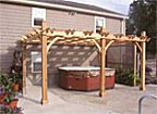Breeze Cedar Pergola 12′ x 16′ – Attached (3 Post)