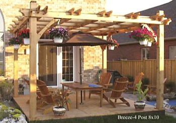 Breeze Wooden Pergola - 4 Post