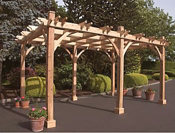 Breeze Wooden Pergola - 6 Post