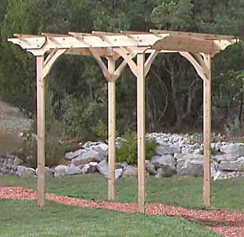 Handcrafted Cedar Pergola