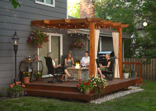 Patio Cedar Pergola (Redwood)