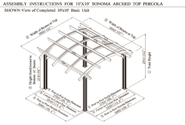 Sonoma Pergola 10' x 10' Image 1