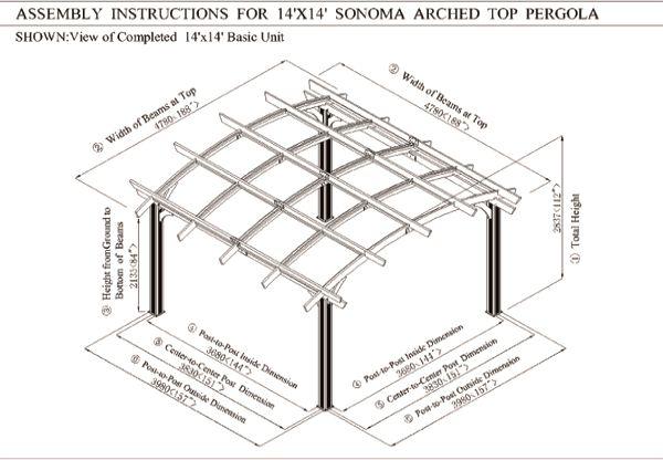 Sonoma Pergola 16' x 16' Image 1