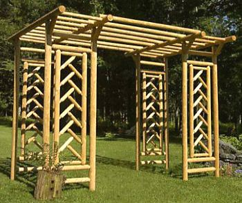 Tahawus Cedar Garden Pergola Extension kit