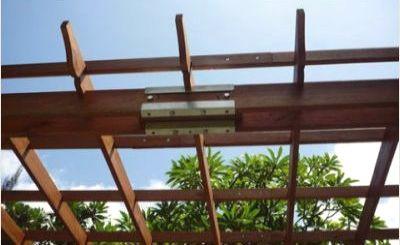 Vifah Contemporary Aluminum Pergola Image 1