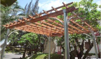 Vifah Contemporary Aluminum Pergola Image 3